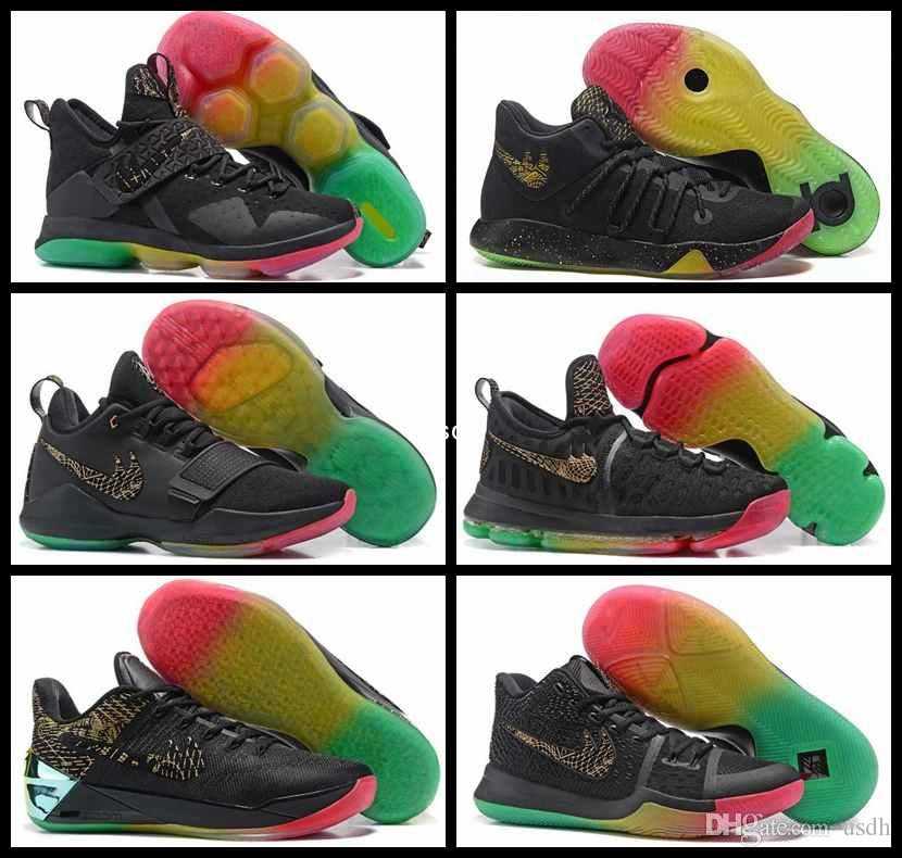 0520fb2cc33 italy 2017 mens rainbow basketball shoes kobe 12 james 14 kd 9 6 kyrie  irving 3