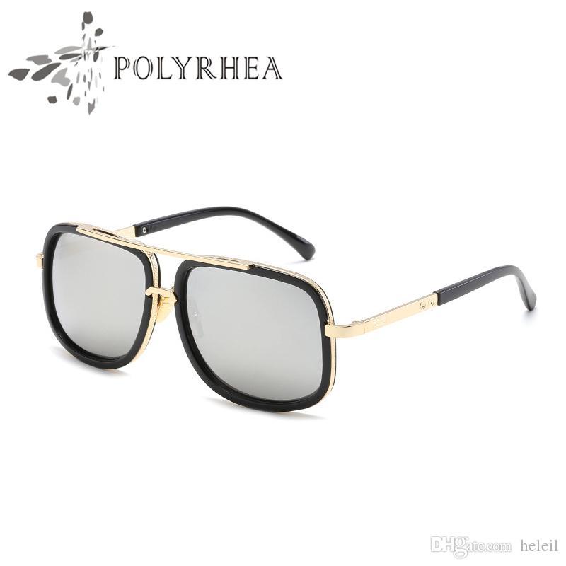 Großhandel 2018 Heiße Männer Marke Designer Sonnenbrille Vergoldet ...