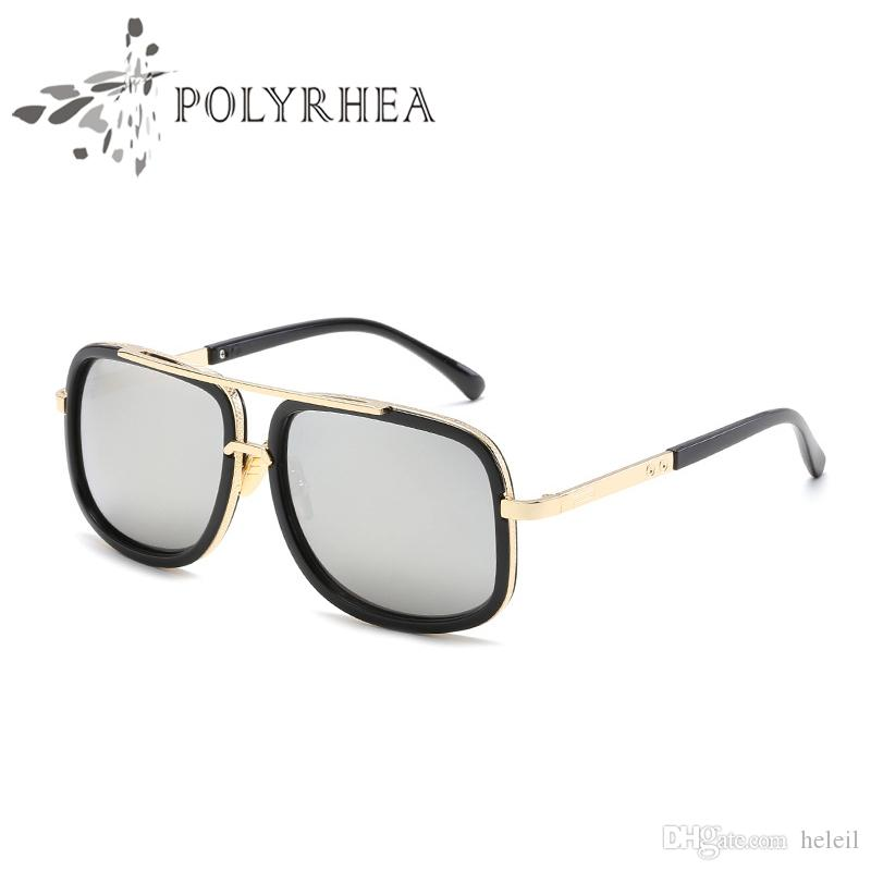 b1afaa5477 2018 Hot Men Brand Designer Sunglasses Gold Plated Sunglasses Vintage Style  Square Frame UV400 Lens With Retail Package Box Round Sunglasses Cheap ...