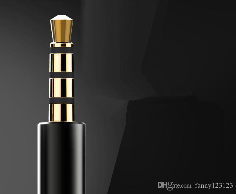 В-ухо микрофон гарнитура наушники Наушники 3,5 мм без шума в-уха для iPhone Samsung и т. д.для бесплатной доставки