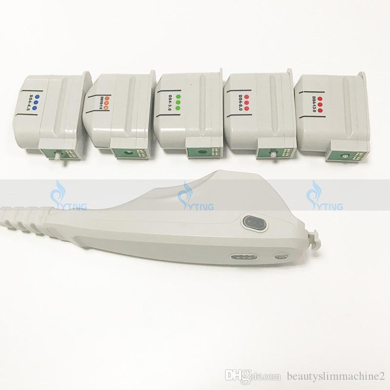 Yüz Vücut Anti Aging Ultrasonik Zayıflama Salonu Kırışıklık Çıkarma 3 veya 5 Kartuşlar için HIFU Yüz Kaldırma Güzellik Makinesi