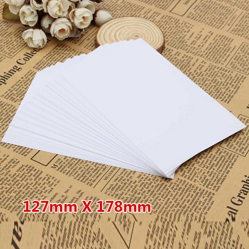 100 Sheet /5R Photo Paper High Glossy High Quality Fashion 127*178mm School Office Home Single-sided Printing Paper Material Escolar