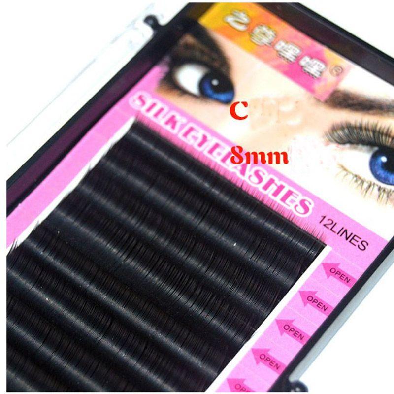 0.07 C 8mm 12mm Individual Eyelash Extension High Quality Natural False Mink Eyelash Extension