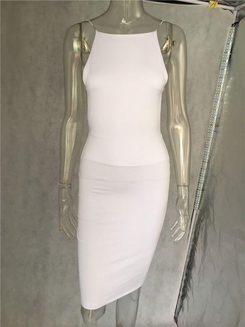 Frauen-reizvoller Verein Kleider Schwarz Weiß Backless Nachtclub-Partei-Kleid Zurück öffnen Strap figurbetontes Kleid Verpackungs-Verband-Kleid für Frauen