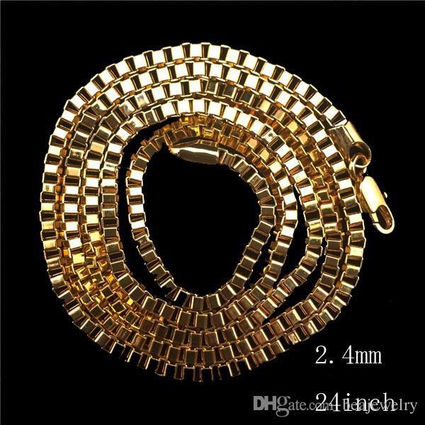 Mens Vintage Engelsflügel Anhänger Kette 14K vergoldet Iced Out Anhänger Halskette 24 Zoll langes Seil Chian Box Kette