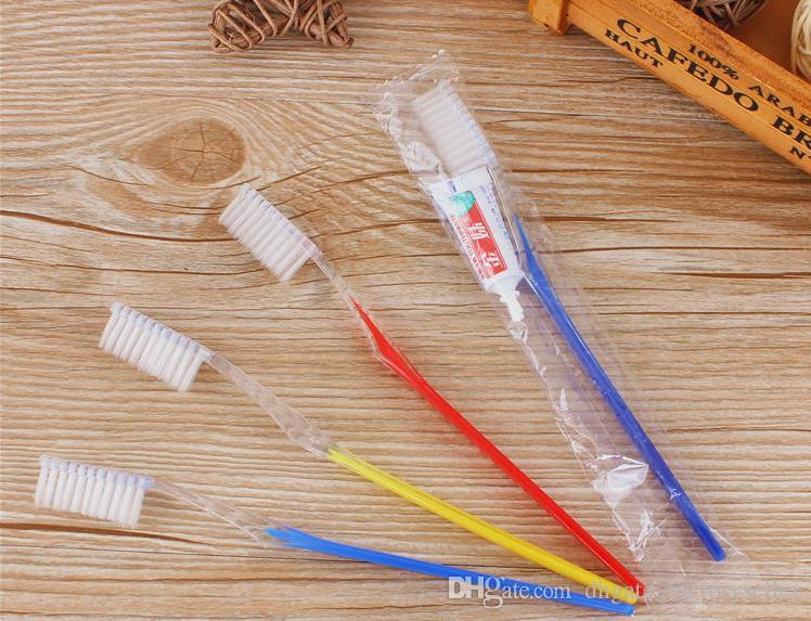 High quality Retail Hotel Travel Toothbrush with toothpaste Suit One time Dentifrice made in China