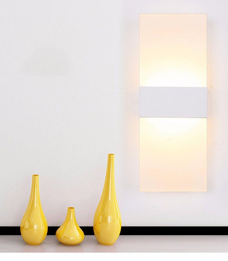 Acrílico moderno 6 w CONDUZIU a Lâmpada de Parede Lâmpada De Alumínio Luminária On / Off Decorativo Sconce Luz Da Noite para o Caminho Escada Quarto Varanda Drive W