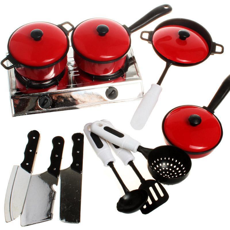 Großhandel Groß Edelstahl Kinder Küche Spielzeug Miniatur Kochen Set ...