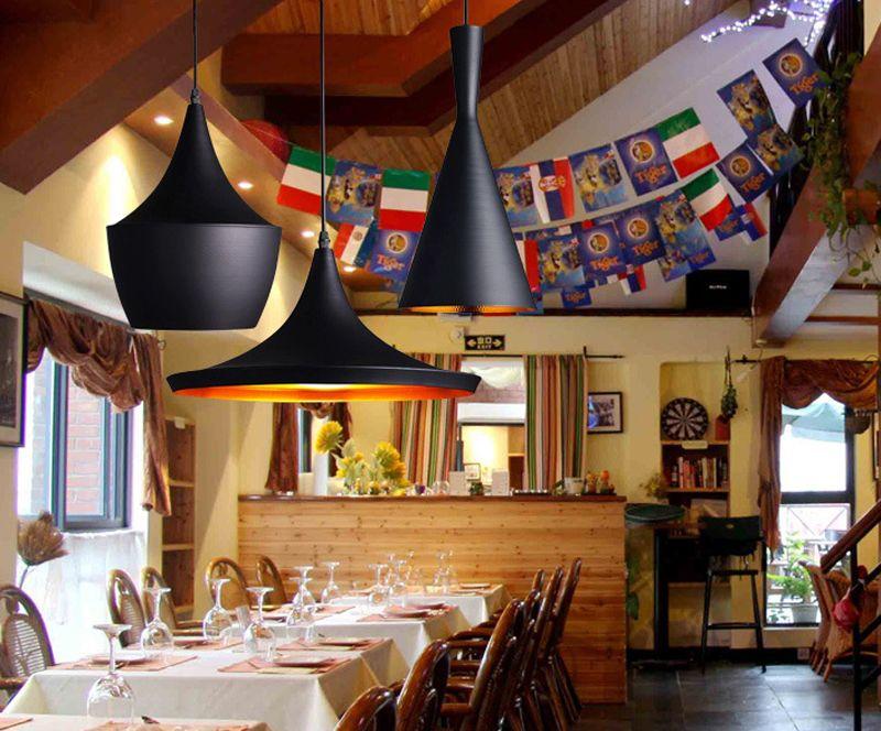레스토랑는 Cofe 바 펜던트 조명 Droplight 샹들리에가 매달려 알루미늄 악기 산업 등 현대 램프 단일 결합