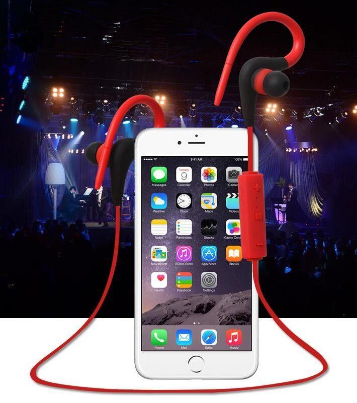 Estéreo deportivo Blutooth Bluetooth Headset Auriculares inalámbricos en auricular Teléfono para iPhone 6 5s 4s Samsung Xiaomi Auricular