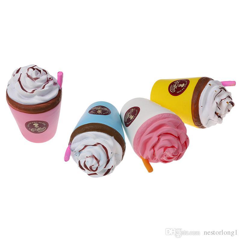 11 см снятие стресса медленный рост Squishies кофейная чашка Kawaii аромат игрушки для детей и взрослых оптом