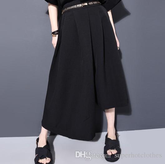Primavera Verão Moda New White Black Cor Sólida Camisa Botão Solto Gola Batwing Manga Tops Mulher