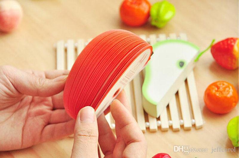 Creativo fai da te frutta memo pad kawaii adesivi di carta memo pad rosso mela verde pera frutta nota di carta / memo pad sticker notepads