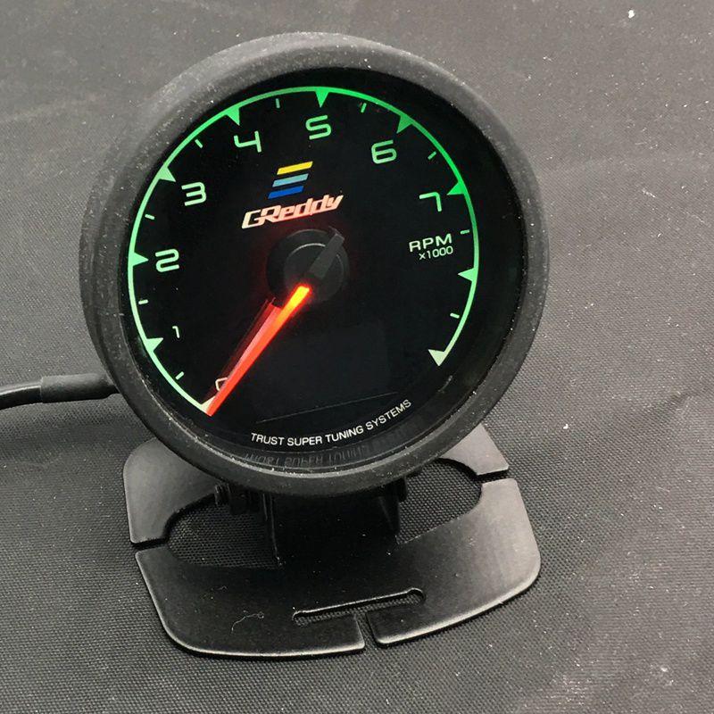 62mm 2.5 Inç 7 Renk 1 Yarış GReddy Çok D / A LCD Dijital Ekran RPM Ölçer Takometre Sensörü