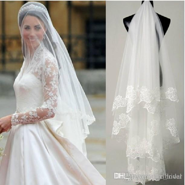 Romantic 2017 Headpiece Bridal Face Veils Tiaras Tulle Cheap Headwear White Ivory Wedding Veil Hair Accessories Blush Black