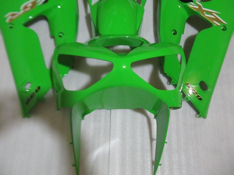Injection mold hot sale fairings kit for Kawasaki ninja ZX6R 2003 2004 green bodywork fairing set zx6r 03 04 OT26