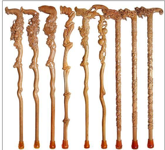 Eski maun kamışı yuvarlak medeniyetin yaşlı ahşap tahta tahta sopa
