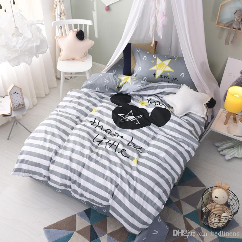 White Gray Striped Animal Bedding Comforter Quilt Set Duvet Covers Bed  Sheets Pillow Shams 100% Cotton Teen Children Twin Size Bedroom Stars  Cotton Duvet ...