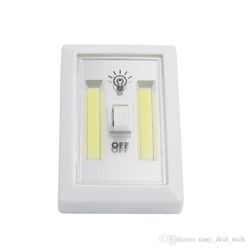 Magnetic Mini COB LED Cordless Lamp Switch Wall Night Lights Battery Operated Kitchen Cabinet Garage Closet Camp Emergency Light SY0002