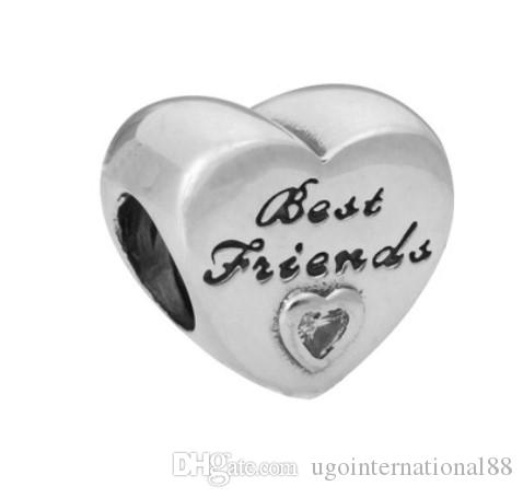 71965177d 2019 Fits Pandora Bracelets Best Friends & Daughter Silver Charm Bead Loose  Beads For Wholesale Diy European Sterling Necklace Jewelry Xmas From ...