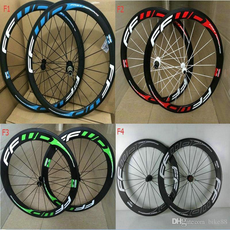 China Oem FFWD 50mm Carbon Road Wheels Wheelset Clincher Tubular Matte glossy Bike Wheelset V brake calliper bicycle wheels