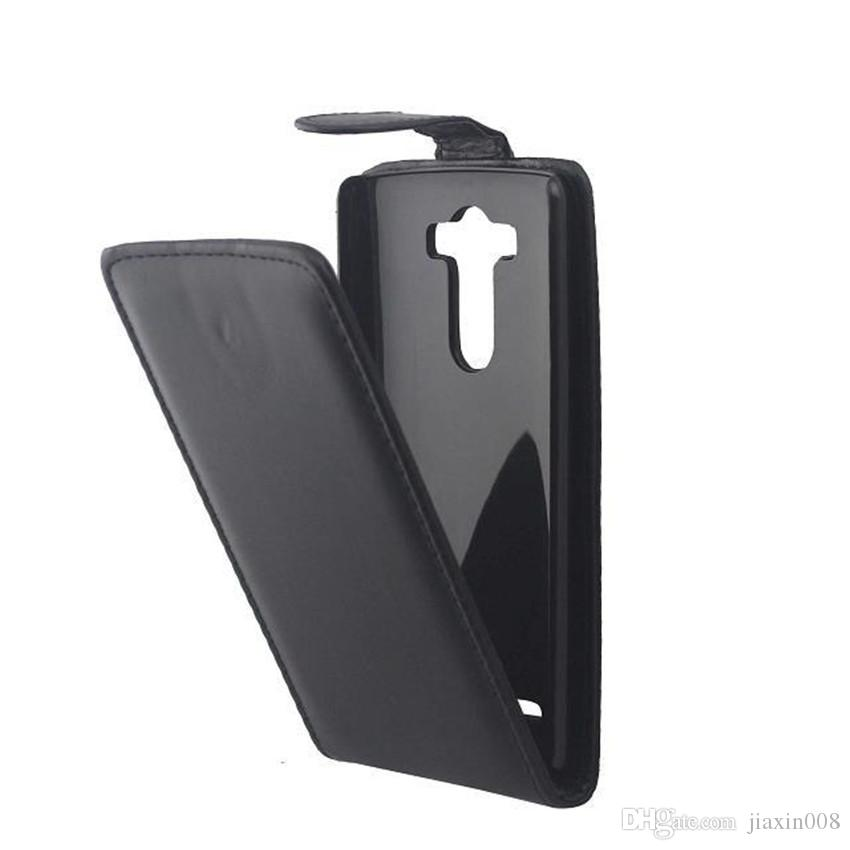 Sacos de telefone capa para lg g3 d855 d850 f400 phone case de volta coque pu leather flip vertical up-down bolsa de pele aberta