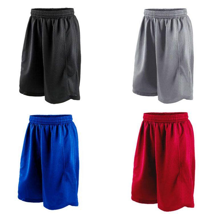 New 2018 Summer Profisporthose für Herren mit atmungsaktiven, schnell trocknenden Fitness-Basketball-Tischtennis-Shorts Schwarz / Rot / Blau