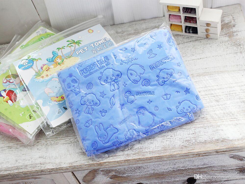 Großhandel Absorbent Trocknen Tuch Hund Handtuch Detergency Welpen Reinigungs Liefert Pet handtuch Bad Grooming handtuch 85X33 cm Kostenloser Versand