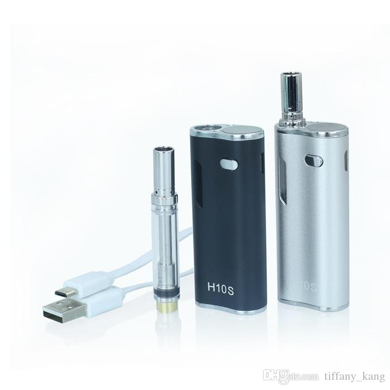 H10S Starter Kit 650mAh Preheating Variable Voltage Vape Pen LED Screen Magnetic Oil Cartridge Vaporizer Box Mod E cigs Mystica