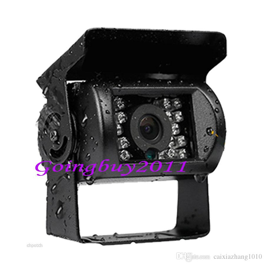 "2 x 18 LED IR CCD Car Reversing Camera Waterproof + 4Pin 7"" LCD Monitor Rear View Kit Bus Truck Van 12V-24V"