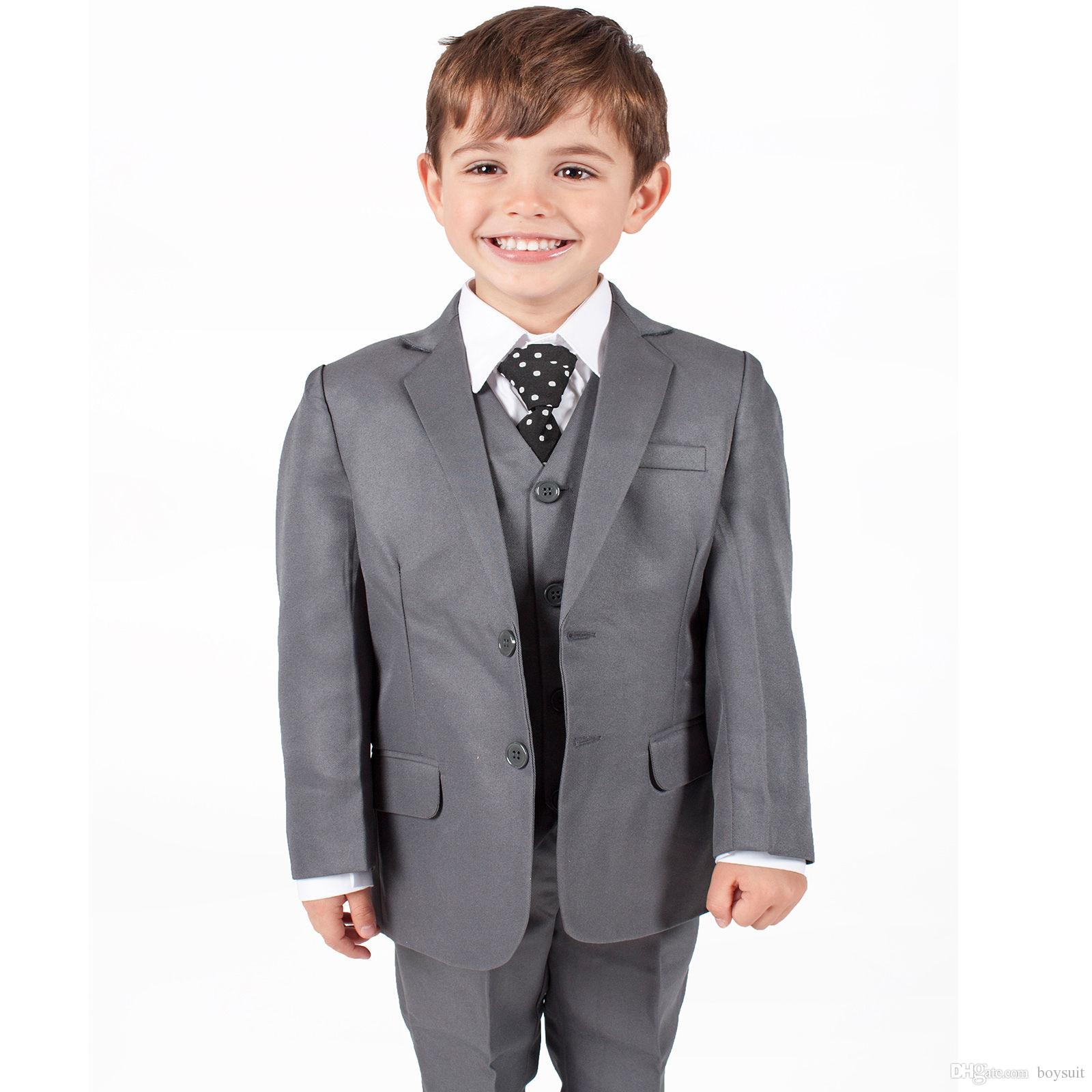 boys suits boys grey suit baby boys wedding page boy waistcoat party suit from boysuit 794 dhgatecom