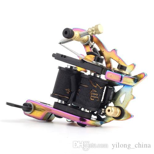 Hot Professional Tattoo Gun Machine Handmade Tattoo Machine 10 Wrap Coils Tattoo Machine For Body&Art
