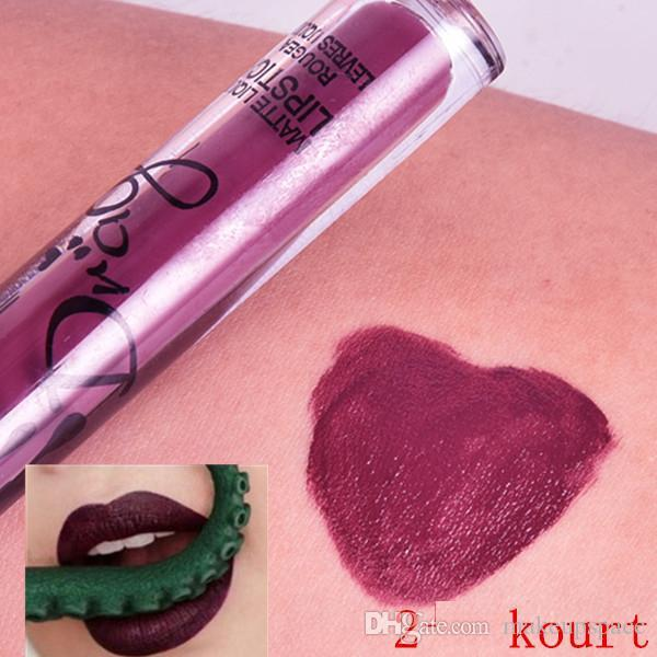 Famous Brand Waterproof lip gloss Matt Liquid Lipstick and Metallic Lip Gloss Koko Kourt Dolce Sexy Makeup Cosmetic