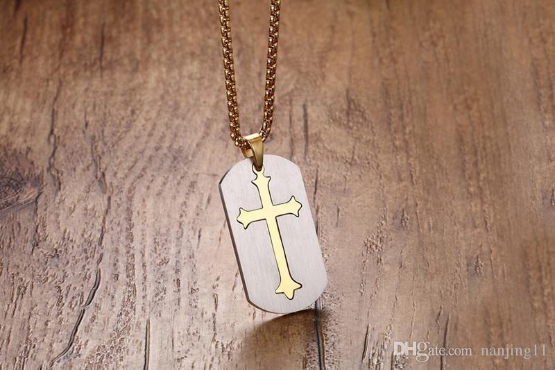 Punk Abnehmbare Kreuz Halskette Frei 24