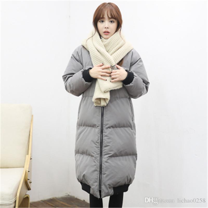 2017 korean oversized coat women winter jacket long hooded