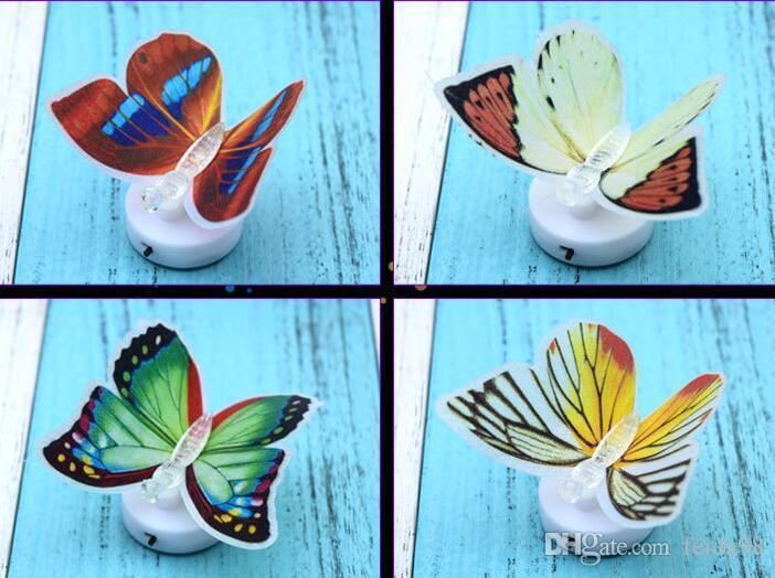 Luce notturna a farfalla a farfalla colorata LED a luce notturna a farfalla camera da letto Luce notturna camera dei bambini G587