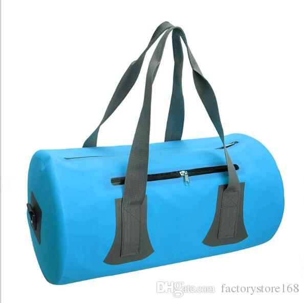 PVC Tarpaulin Waterproof Dry Bags 10 L travel waterproof pouch with double strap and side zipper pocket swimming bags