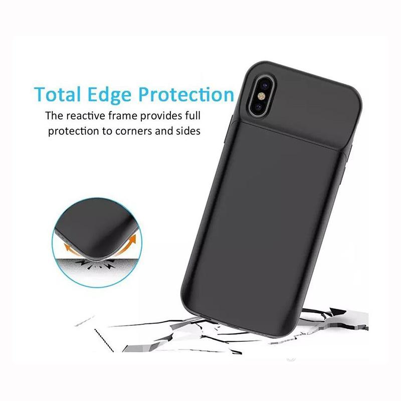 low cost 7c910 87b44 Portable Charging Case For iphone X 6000 mAh Battery Power Bank for iphone  X Battery Charger Case with Power Bank Gift