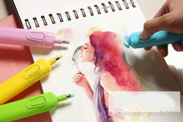 Kids fashion stationery electric wipe erase,children's mechanical erase use of rub out the wrong message and paint