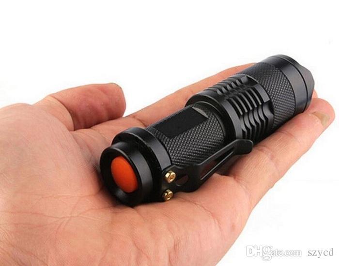 Linterna impermeable LED Q5, Mini Super brillante 3 modo linternas tácticas, mejores herramientas para senderismo, caza, pesca y camping