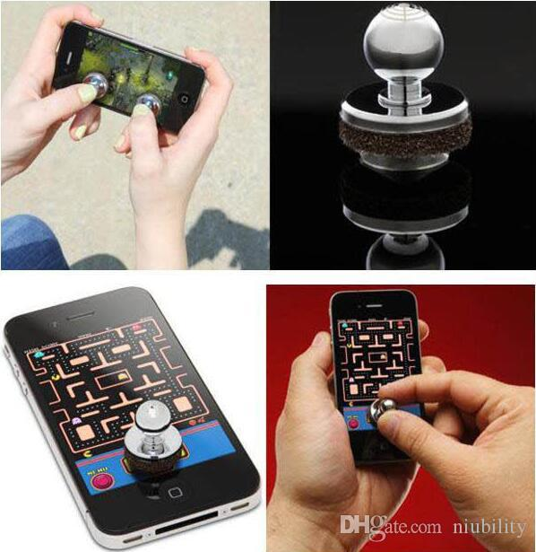2017 Mini Tactile Game Controller Mobile Mini joystick for iPhone iPad touch or Android device cellphone roker sucker with retail package