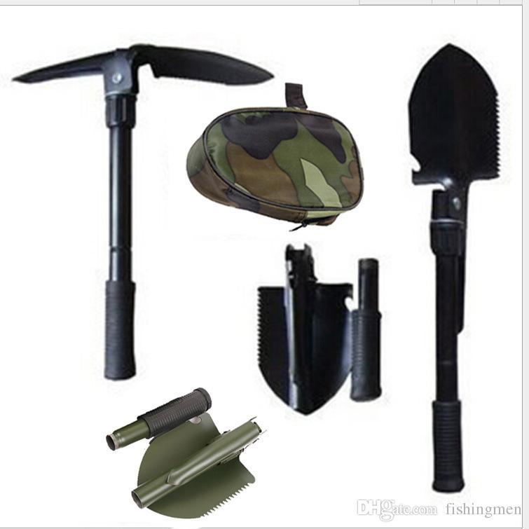 Multi-function Camping Shovel Military Portable Folding shovel Survival Spade Trowel Dibble Pick Emergency Garden Outdoor Tool