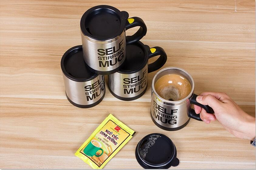 400Ml Mug Automatic Electric Lazy Self Stirring Mug Automatic Coffee Cup Milk Mixing Self Stirring Coffee Cup Stainless Steel