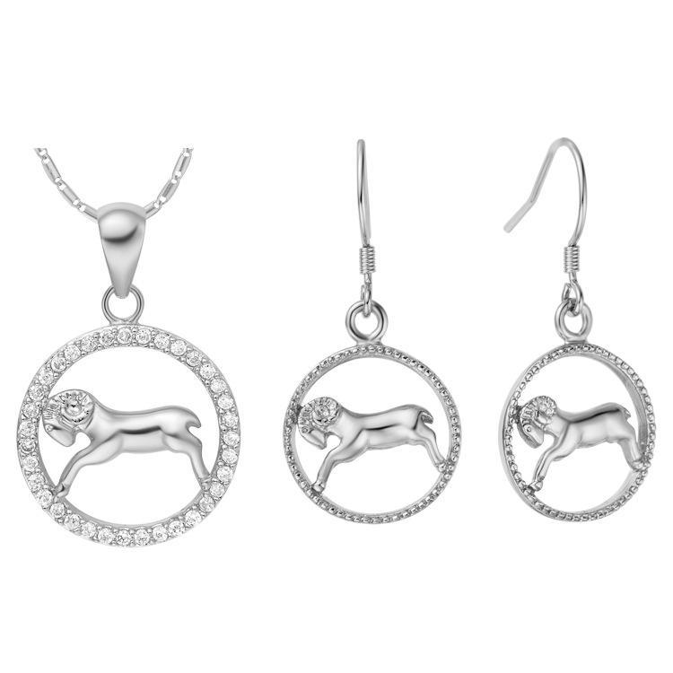 Placcato NUOVO di argento sterlina 925 personalizzato di dodici set di orecchini di costellazione