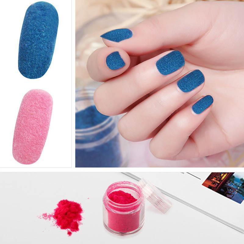 New Nail Art Glitter 10g Velvet Flocking Dust Powder Pigment Diy ...