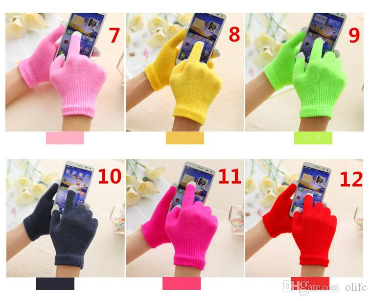 Fashion Christmas Winter warm touch glove Cotton capacitive screen conductive gloves for iphone 7 6 6S plus S7 S6 edge ipad Air DHL