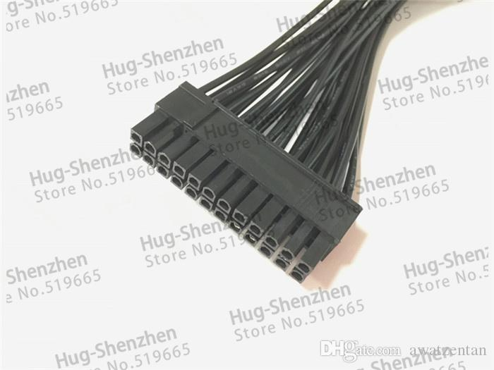 ATX Power Supply 30Cm Adapter Cable Connector for Mining 24Pin 20+4pin Dual PSU male to female cable 18AWG