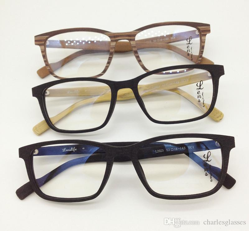 b4ba6e365d4 New Wooden Like Temple Glasses Frames