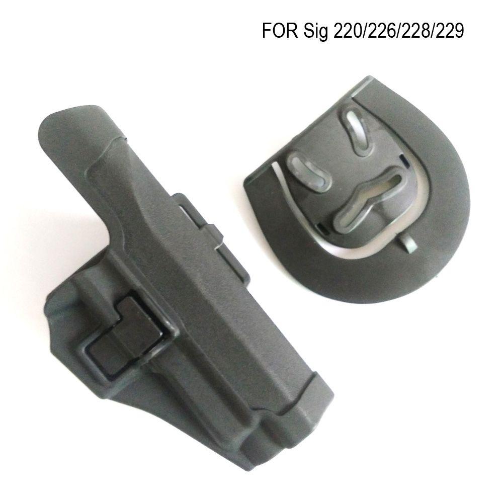 Étui de pistolet CQC étendu tactique main droite ceinture Paddle Holster pour pistolet sig 220/228/229 P226