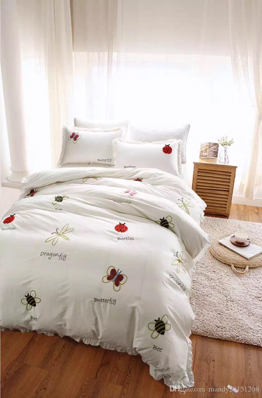 2017 Hot Selling Bedding Set For Home Bedroom Decoration Cotton High Quality  Comfortable Bedding Duvet Cover Bed Sheet Almofadas Bedspreads And  Comforters ...